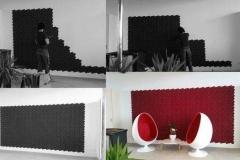 Настенные 3D панели из пробки Beehive Black, Bordeaux
