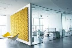 Настенные 3D панели из пробки Beehive Yellow