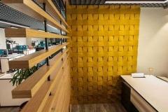Настенные 3D панели из пробки Chock Yellow